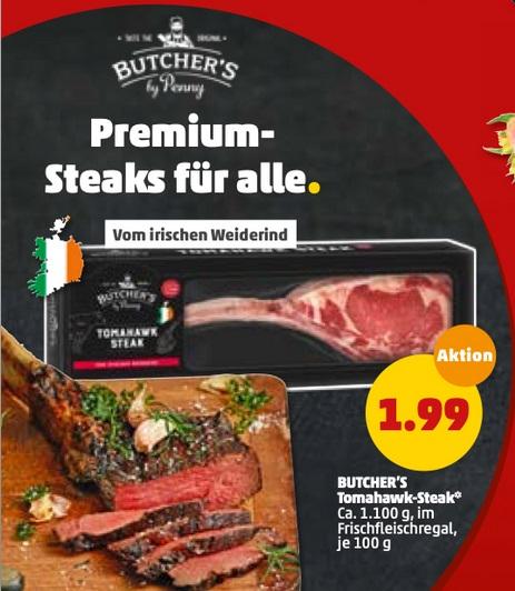 [PENNY] Tomahawk Steak Irisches Weiderind am Framstag