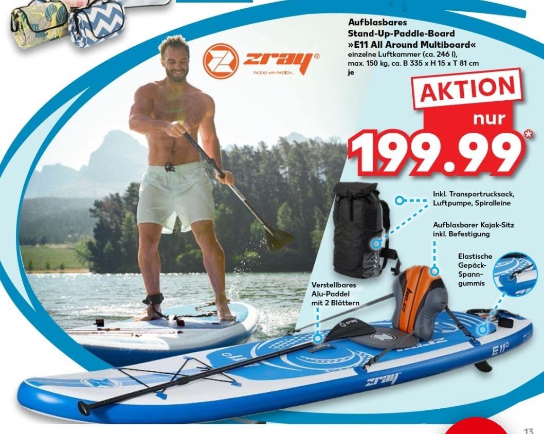 Zray E11 All Around Multiboard, aufblasbares Stand-Up-Paddle-Board, 335x15x81, Kaufland