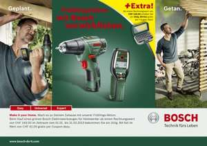 "[""lokal"" SCHWEIZ] Bosch Aktion ""Make it your Home"" - kostenloses 31tlg. Bit-Set"