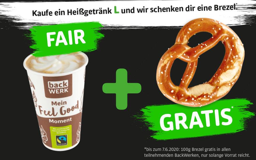 Backwerk Bundesweit: gratis Brezel bei großem Heißgetränk!
