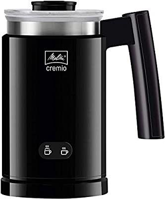 Melitta CREMIO 1014-02 Milchschäumer | Für kalte und warme Milch | Antihaftbeschichteter Behälter, feinporiger Milchschaum [Amazon]