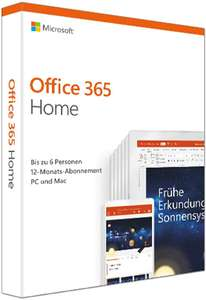 Microsoft Office 365 Home // Microsoft 365 Family | 6 User | 1 Jahres-Abonnement