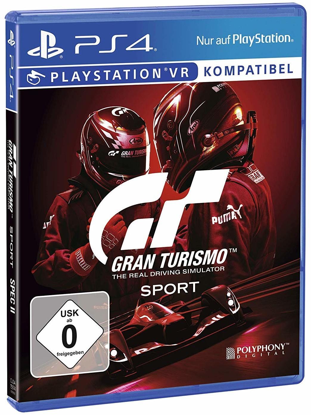 [Prime] Gran Turismo™ Sport – Spec(ial) Edition II (inkl. 2.5M Credits, Top 10-Fahrzeuge) - 19,99€ | Standard Edition für 14,99€