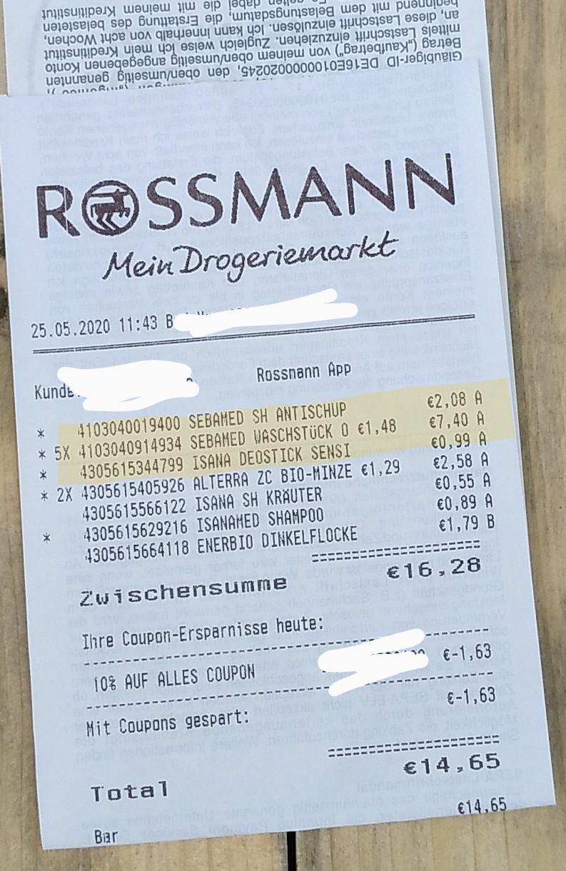 [Rossmann offline] SebaMed seifenfreies Waschstück - 15% Rabatt auf Sebamed