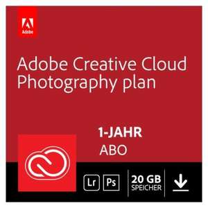Adobe Creative Cloud Foto-Abo mit Photoshop & Lightroom inkl. 20GB Cloudspeicher