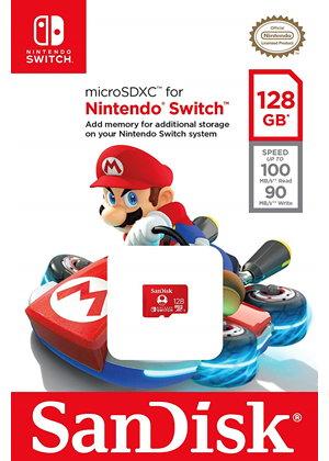 SanDisk 128GB microSDXC Karte für Nintendo Switch U3 für 23,22€ @ Base.com