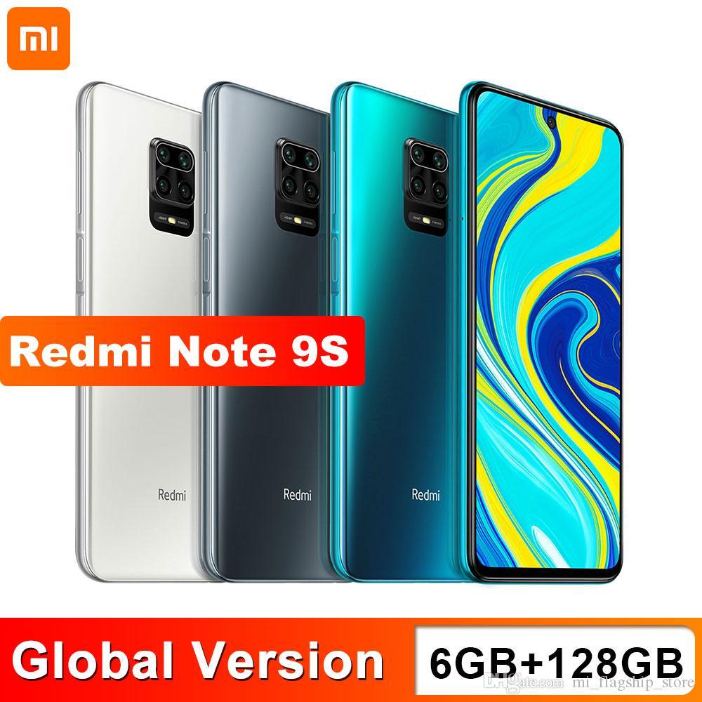 Xiaomi Redmi Note 9S 6 GB 128 GB Global Smartphone Version Snapdragon 720G Octa core 5020 mAh 48MP cámara Quad Nota 9 S