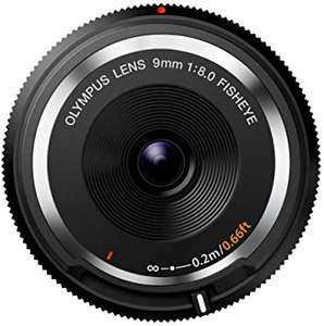 Olympus Body Lens 9mm 1:8,0 Fisheye Objektiv (Micro Four Thirds) für 62,54 € (Amazon.it)