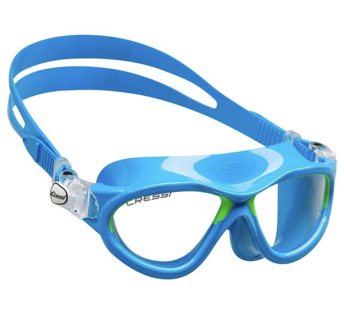 Cressi Premium Schwimmbrille Kinder 2/7 Jahre 100% UV Schutz + Tasche