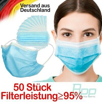 [Ebay.de] 50 x Mundschutz 3-lagig aus Vlies mit Gummibändern 14,99 €€