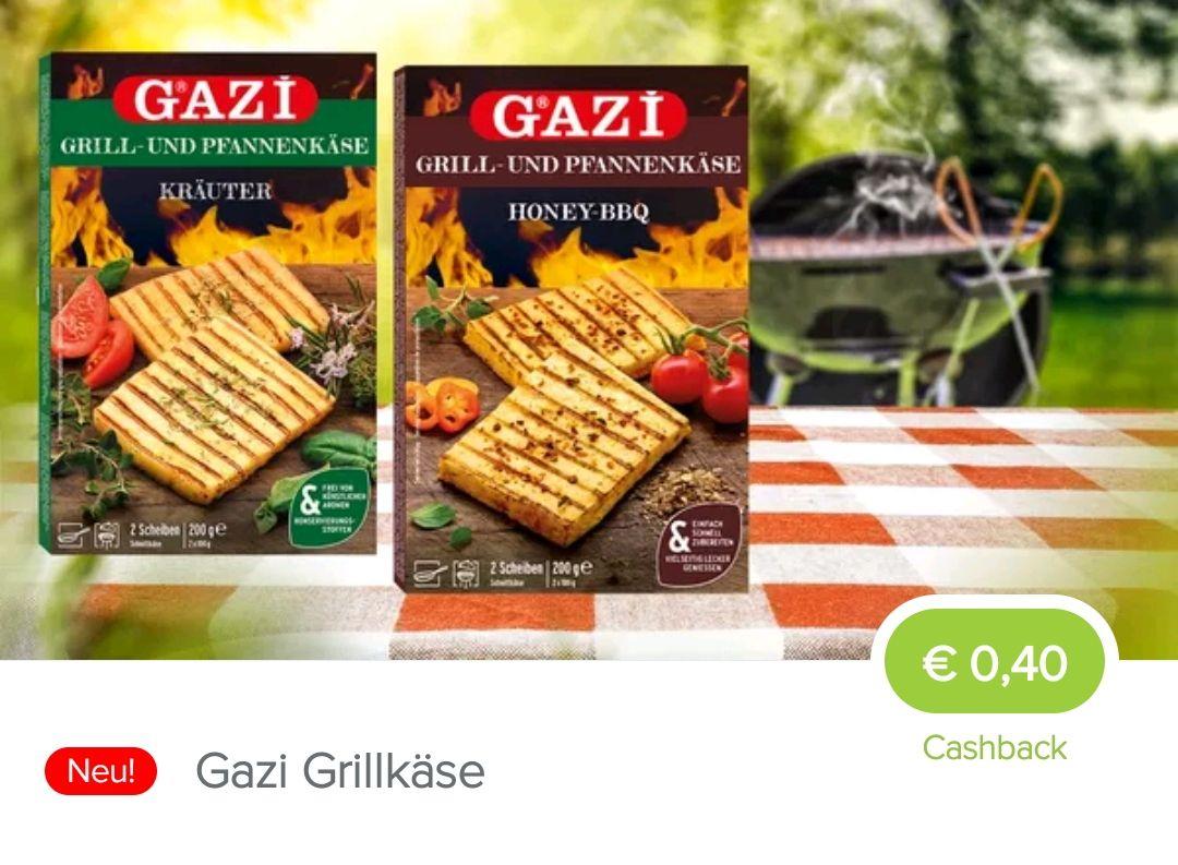 Gazi Grillkäse 0,40€ Cashback bei Marktguru - bei Rewe dann für 1,29€ möglich