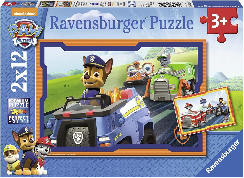 Ravensburger Puzzle - Paw Patrol im Einsatz, 2x12 Teile für 6,45€ (Amazon Prime)