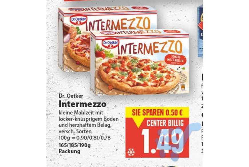 [Lokal Edeka Hannover/Minden] Dr. Oetker Intermezzo für 0,99€ (Angebot+Coupon)