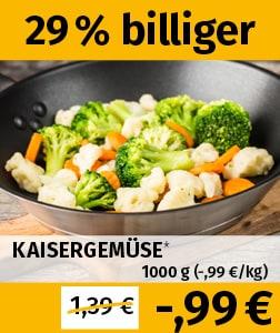 1kg Kaisergemüse (TK) für 0,99€