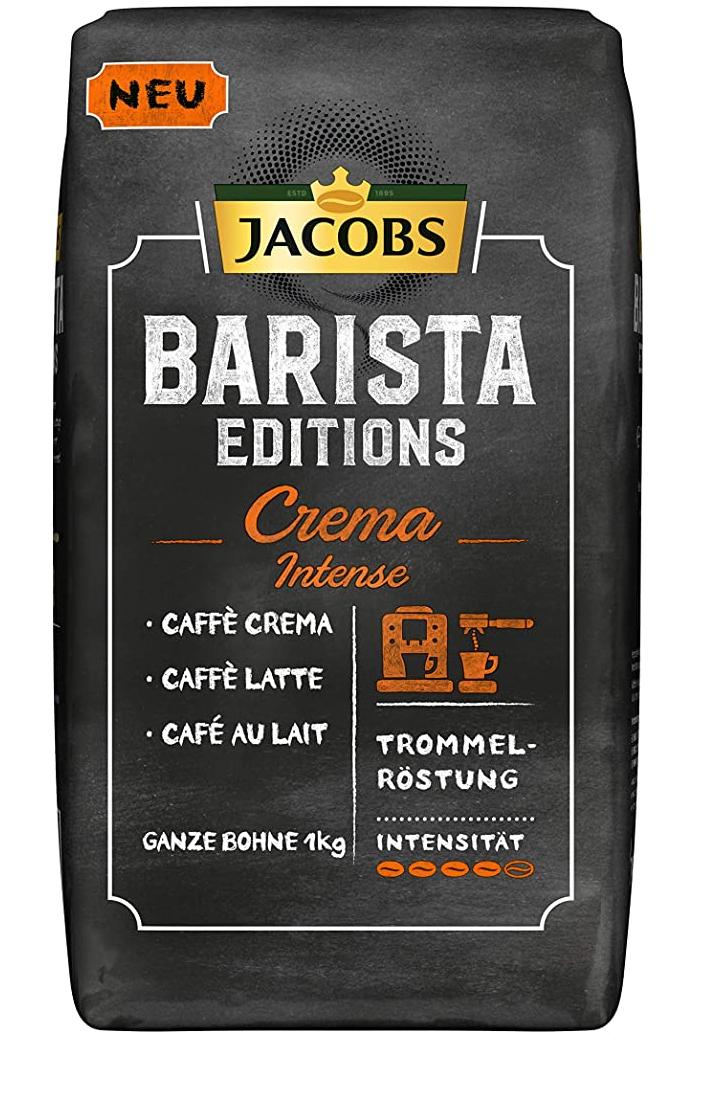 Jacobs Kaffeebohnen Barista Editions Crema Intense, 1 kg Bohnenkaffee Prime nicht für alle nutzbar
