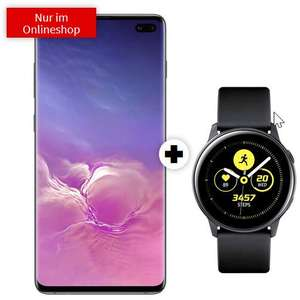 Samsung Galaxy S10 Plus mit Watch Active im O2 Free M Boost (40GB LTE 225Mbit, Connect) mtl. 34,99€ einm. 4,95€