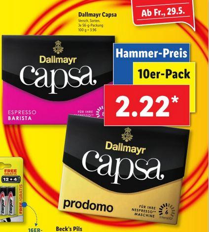 Ab dem 29.05. bei Lidl: Capsa für Nespresso Maschinen im 10er Pack
