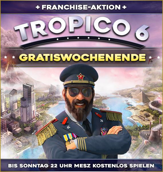 Tropico 6 (Steam) kostenlos spielen vom 09.Juli bis 12. Juli (Steam Shop)