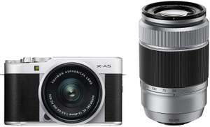 Fujifilm X-A5 Systemkamera Kit silber 15-45 mm + 50-230 mm (Amazon ES)