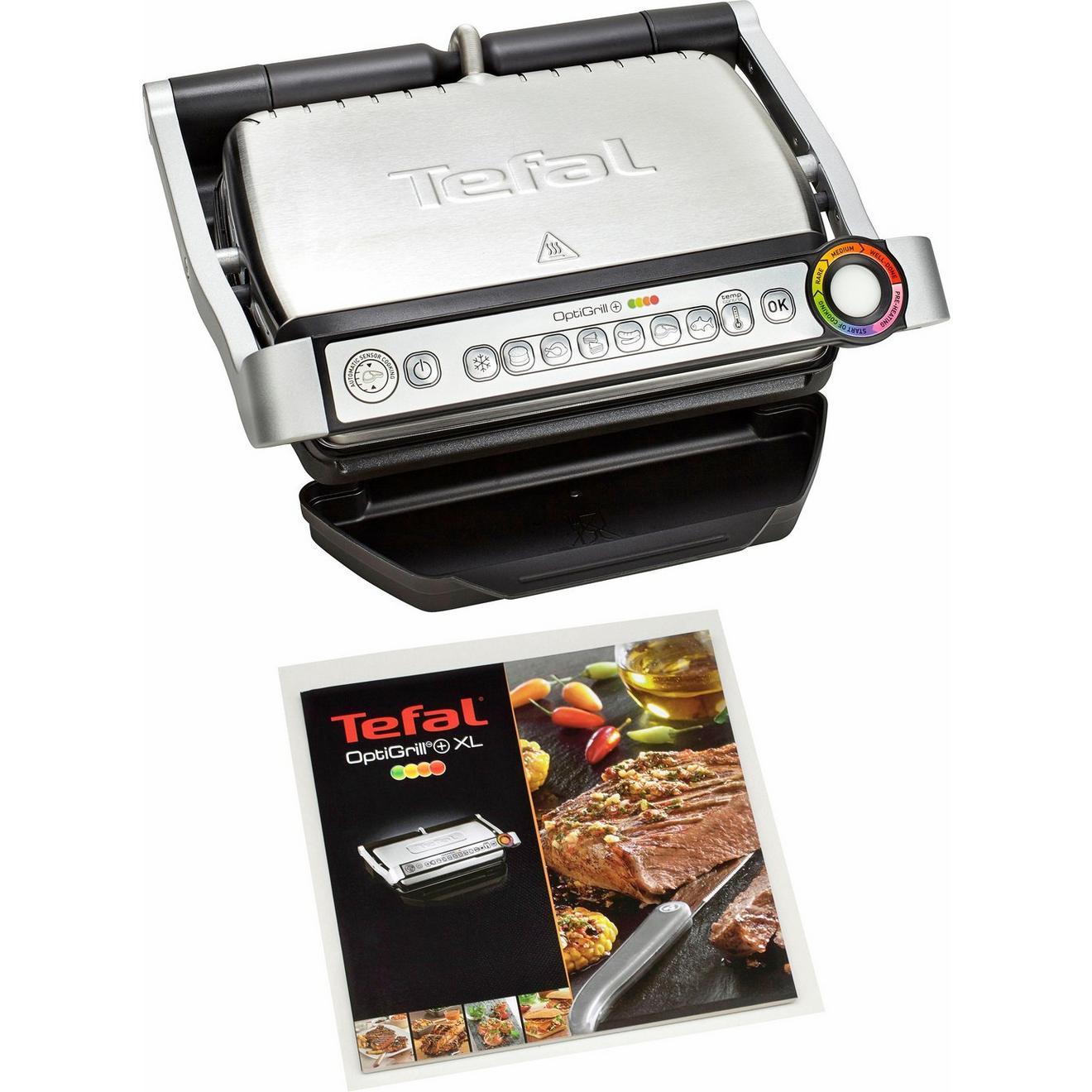 Tefal GC712D OptiGrill+ Kontaktgrill Plus Modell mit 4 Temperaturstufen für 84€ inkl. Versandkosten