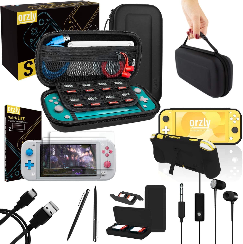 Switch Lite Accessoires, Orzly Zubehör für Nintendo Switch Lite (Schwarz) für 22,99€ (Amazon)