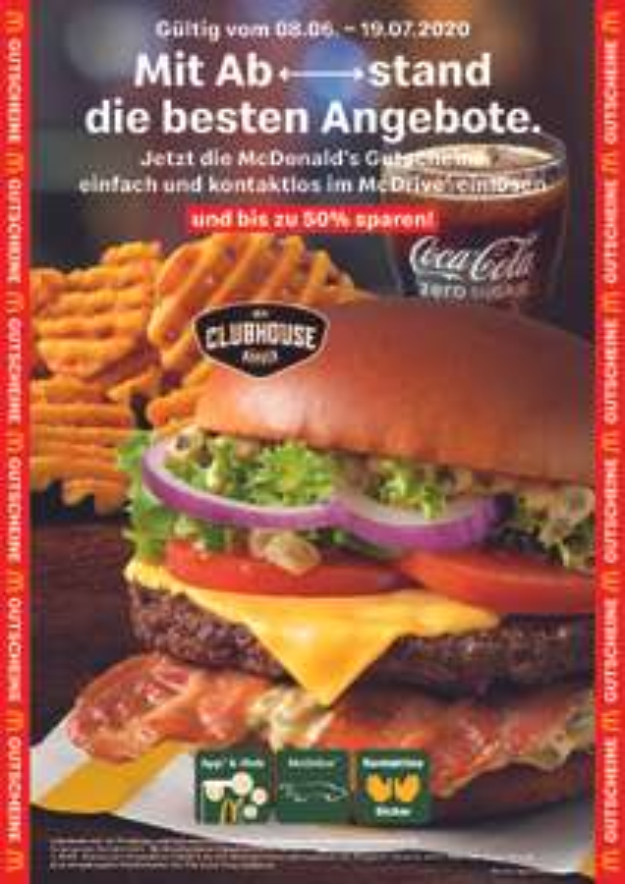 [McDonald's - Coupons vom 02.06. - 19.07.] z.B. 20er Chicken McNuggets - 4,99€ | 2für1 BigMac | 3€ Gutschein (MBW 10€) für McDelivery
