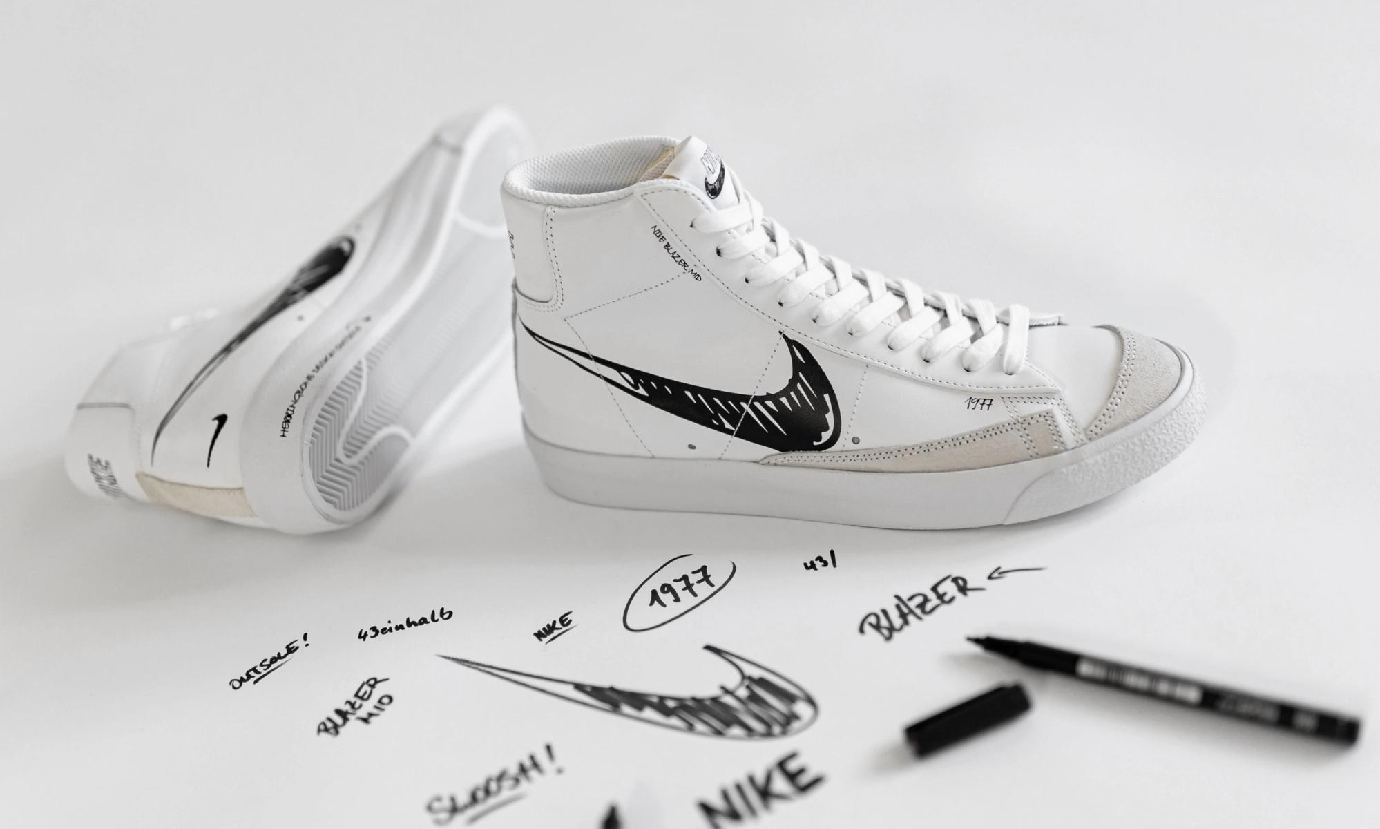 Für Newsletterkunden: 43einhalb.com Nike Blazer Mid Vintage 77 Sketch