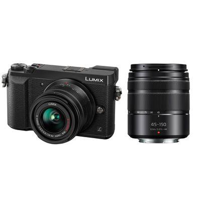 Panasonic Lumix DMC-GX80 + AF 14-42mm + AF 45-150mm OIS asph schwarz Micro Four Thirds