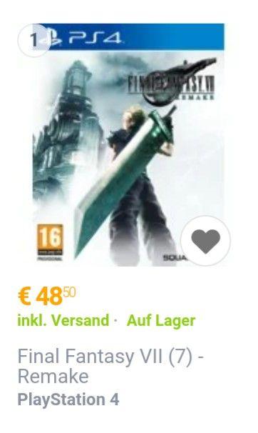 Final Fantasy VII - Remake - PlayStation 4 (mit deutscher Sprache/Untertitel)