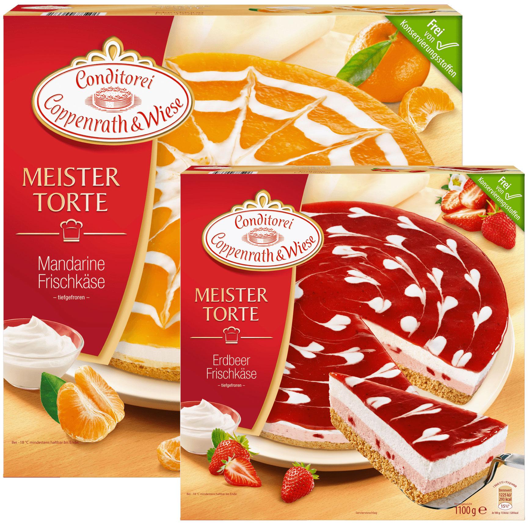 C&W Meistertorte Frischkäse-Erdbeere oder Mandarine (1100g) (regional / lokal) + bei Frostkauf 2,79€ + bei Eiskönig 2,99€ + bei Jawoll 3,49€