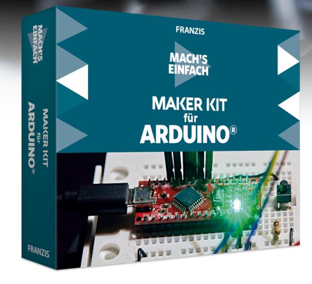 [Franzis] 10€ Rabatt ab 30€ oder 20€ Rabatt ab 60€, auch auf Sale, z.B. Maker Kit für Arduino für 29,95€ oder Lernpaket V8-Motor für 69,95€