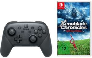 Bundle: Nintendo Switch Pro Controller + Xenoblade Chronicles: Definitive Edition für 95€