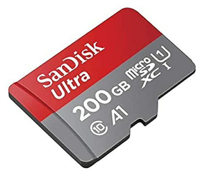 [AMAZON PRIME] SanDisk Ultra 200GB microSDXC Speicherkarte 100 MB/Sek. Class 10, U1, A1 für 25€ für Prime-Mitglieder Versandkostenfrei