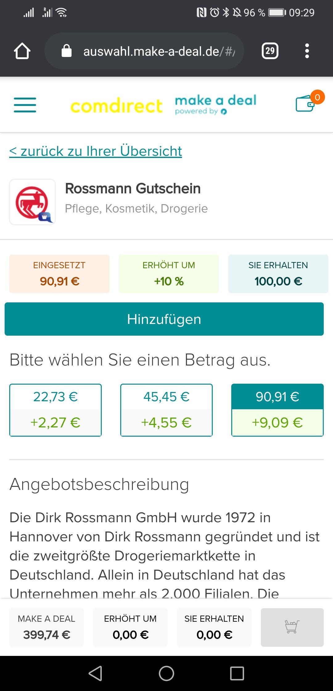 www.make-a-deal.de Gutscheinportal optiopay *verfügbar für comdirect Kunden z. B. Rossmann Gutscheine