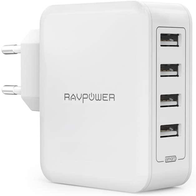 RAVPower USB Ladegerät 40W 4 Ports [Prime]