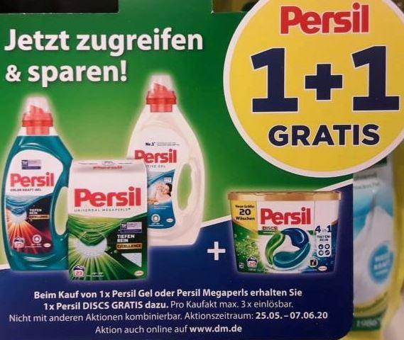 [DM] Eine Packung Persil Discs gratis bei Kauf von Persil Gel/Megaperls (3x pro Einkauf)