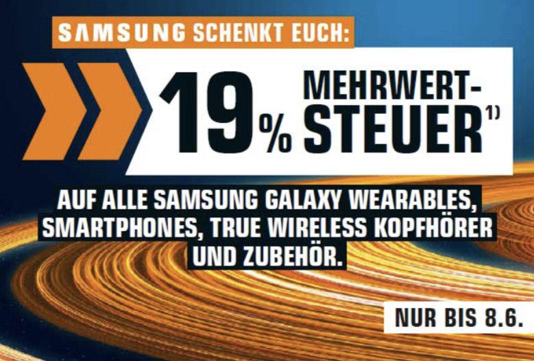 "Samsung ""Galaxy Week"": effektiv 15,96% auf Smartphones, Wearables, In-Ears & Zubehör"
