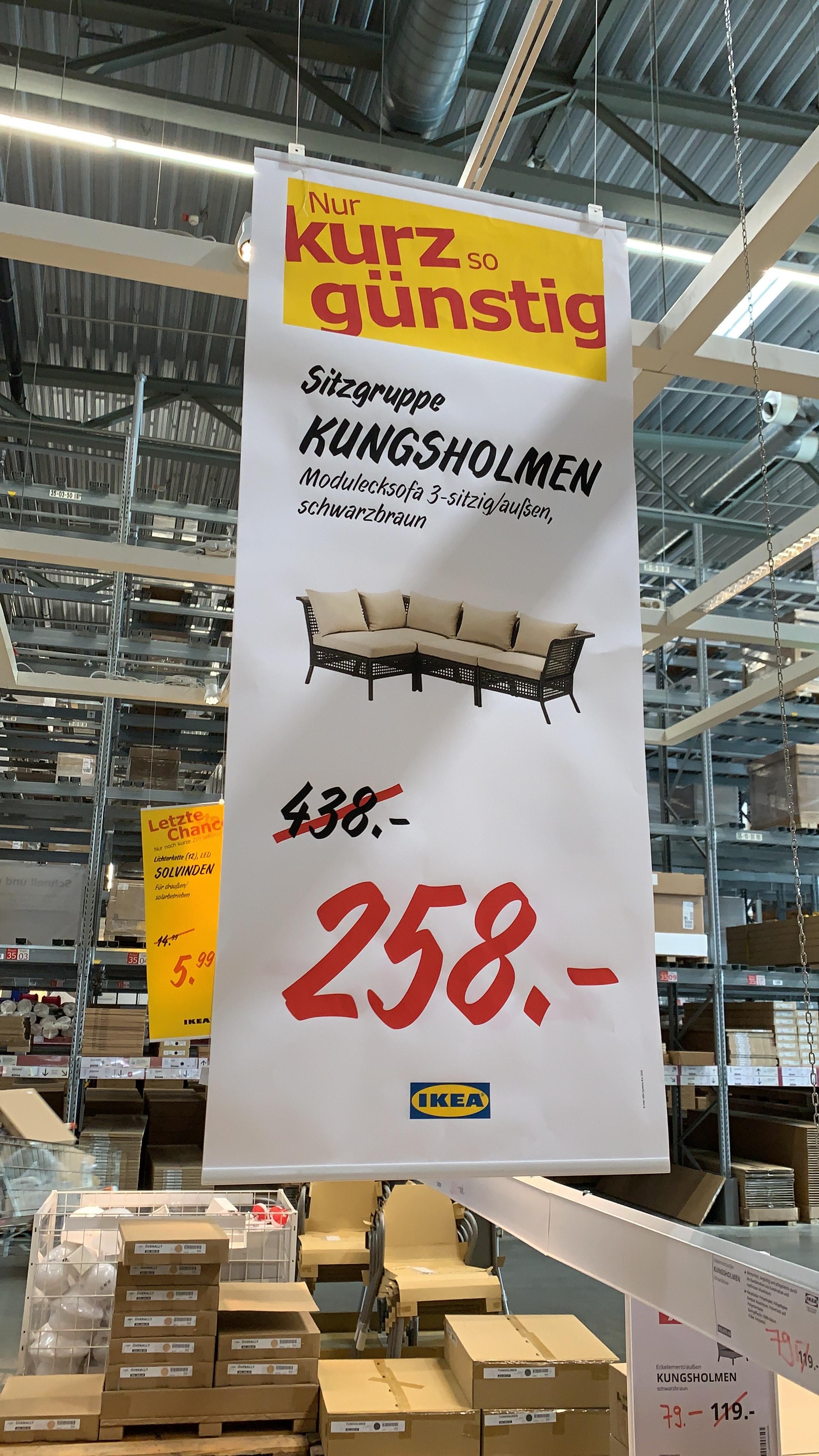 IKEA Walldorf: Diverse Lounge Möbel für Terrasse oder Balkon (KUNGSHOLMEN Serie) reduziert / zusätzlich 15€ Rabatt je 100€