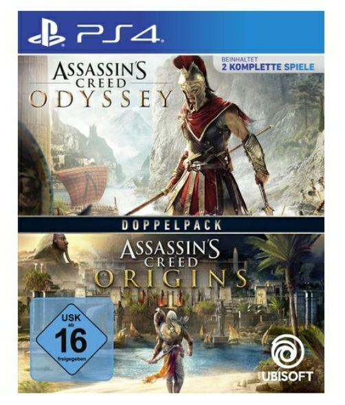 Assassins Creed Origins & Assassins Creed Odyssey im Bundle für die PS4 [Müller, Abholung]