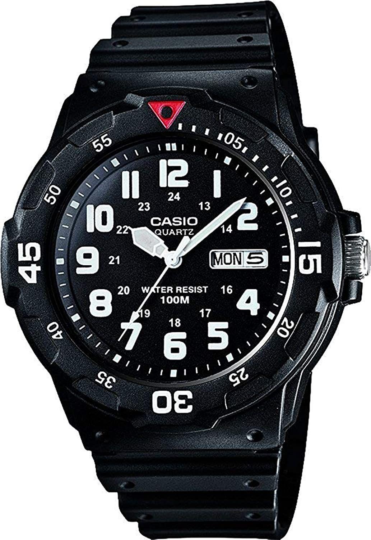 Casio MRW-200H-1BVES Herren-Armbanduhr (Tages- & Datumsanzeige, Quarz, wasserfest bis 10bar)