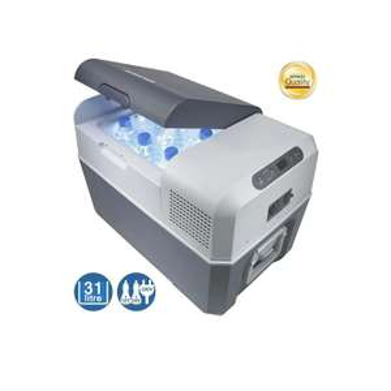 [Amazon Prime] Mobicool FR34 AC/DC - Kompressor-Kühlbox für Normal- und Tiefkühlung, 31 Liter, für Auto, LKW und Steckdose, A+