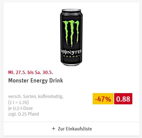 [REWE] Monster Energy (verschiedene Sorten)