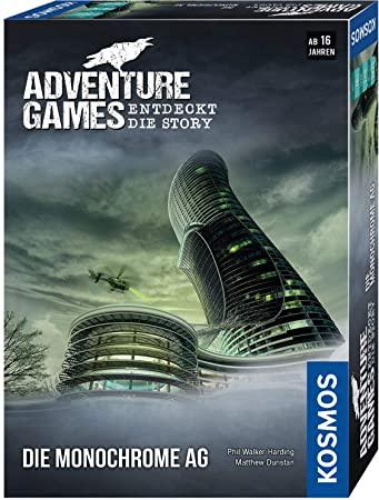 KOSMOS - Adventure Games - Die Monochrome AG. Entdeckt die Story Kooperatives Gesellschaftsspiel für 7,99€ (Amazon Prime & Müller Abholung)