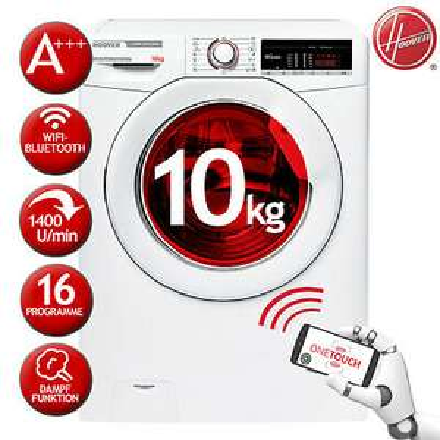 Hoover Waschmaschine Frontlader A+++ HSX 14105T3/1-S 10KG Dampffunktion