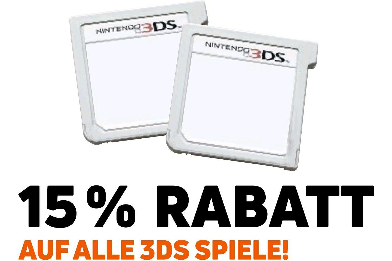 15% auf alle Nintendo 3DS Spiele [Müller]