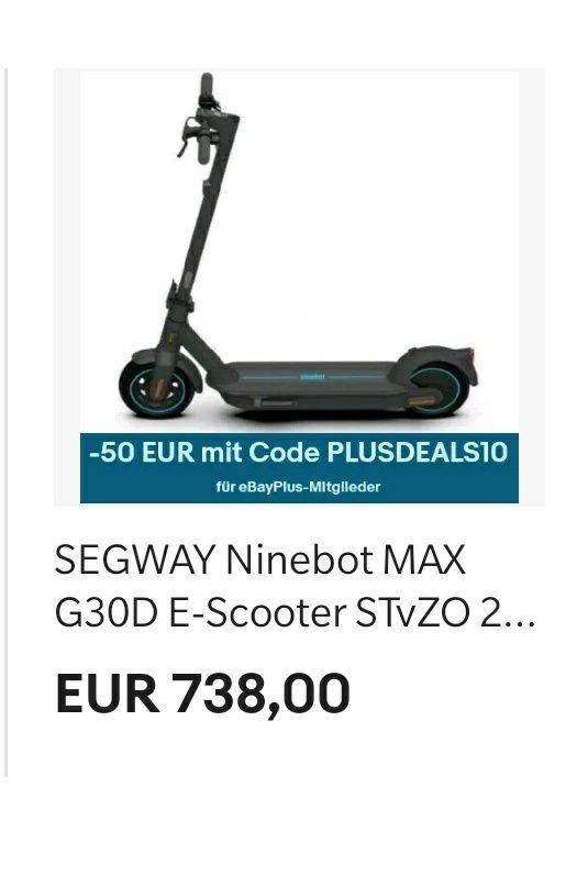 EBay 10% auf Elektronik Segway Ninebot G30D
