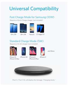 Anker PowerWave Wireless Charger Ladepad, Kabelloses 10W Ladegerät