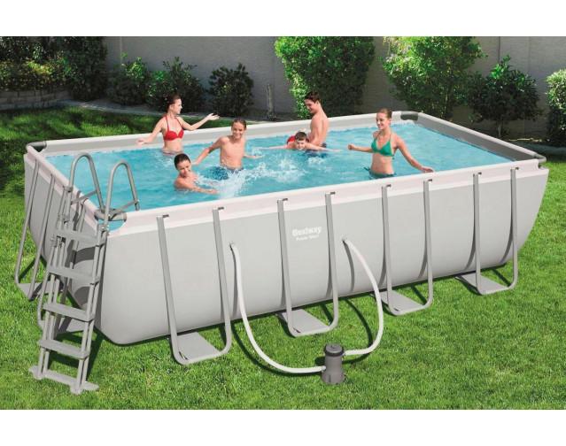 Bestway Power Steel Frame Pool Komplett-Set 488 x 244 x 122 cm