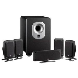 JBL SCS 200.5 schwarz, 5.1 Lautsprechersystem mit aktivem Subwoofer