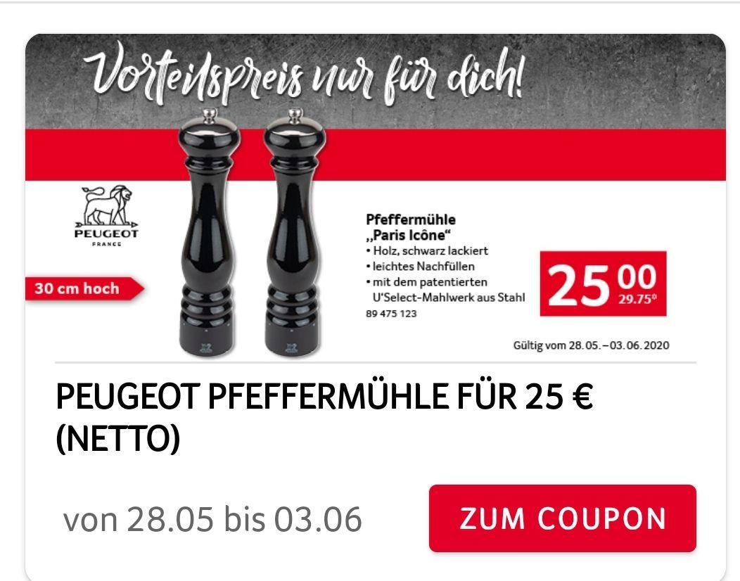 PEUGEOT Pfeffermühle Paris Icône 30 cm schwarz lackiert U'Select Mahlwerk aus Stahl nur über Selgros App
